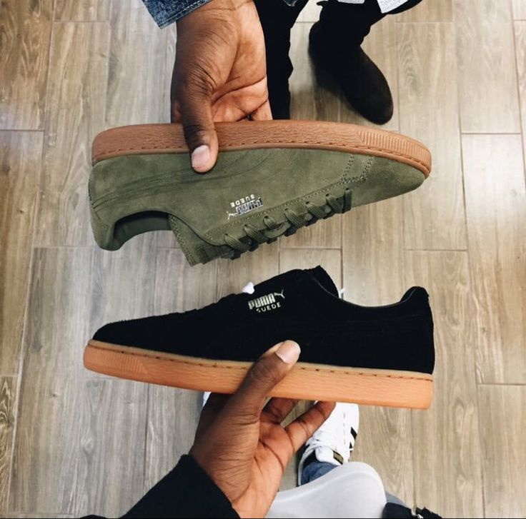 olive & black pumas | like this pin? follow me for more · @tamiaantoinette ·
