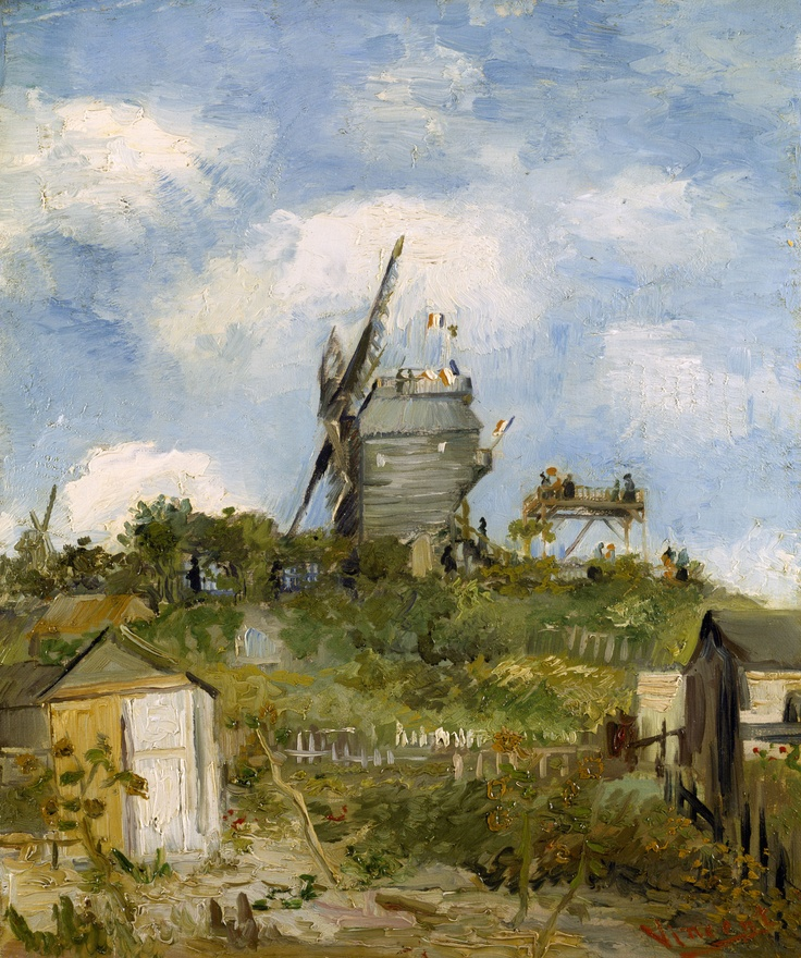 Vincent van Gogh The Blute-Fin Windmill, Montmartre