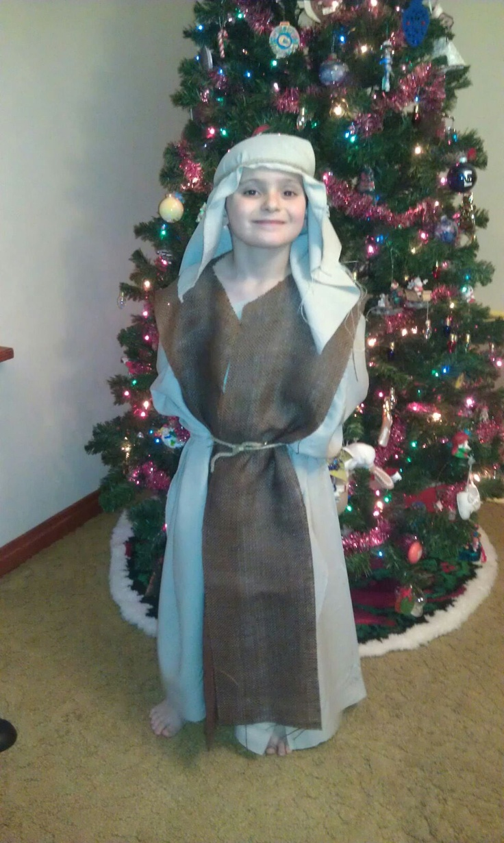 94 best christmas dress up images on pinterest christmas program shepherds costume for church no sewing involved solutioingenieria Image collections