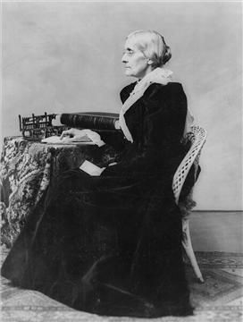 Susan B. Anthony (1820 - 1906) was a leader in the women's suffrage movement, but she wasn't a single-issue activist. Less famous, but no less important to her, was her work promoting stronger liquor laws through the temperance movement. As she worked on this issue, it helped shape and inform her later involvement in other social-reform movements like women's suffrage. (Wikimedia Commons)