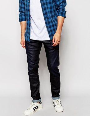 Diesel Jeans Tepphar 844H Skinny Fit Stretch Dark Indigo Coated