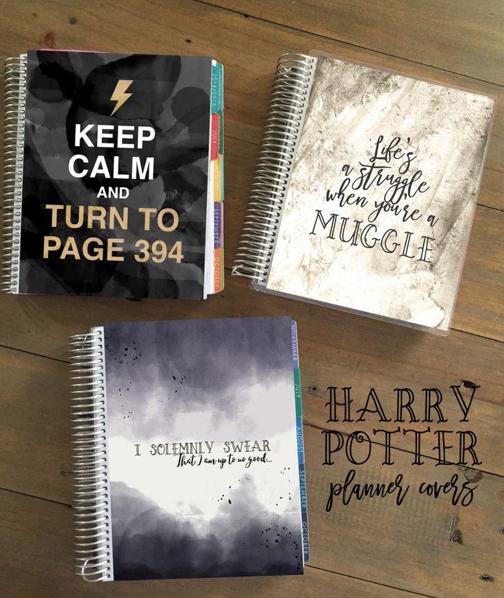 Harry Potter Planner Cover: Erin Condren Cover Sizes, Recollections Planner Cover Sizes & Happy Planner Cover Sizes by StylishPlanner on Etsy https://www.etsy.com/listing/451280872/harry-potter-planner-cover-erin-condren