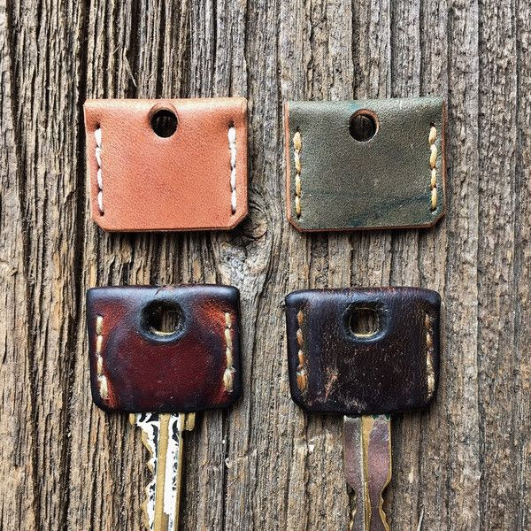 - Made in Indiana - Horween Shell Cordovan Since the leather is hand dyed, the color of each will be unique. They will fit most standard house keys and many others. These will gain an awesome patina o