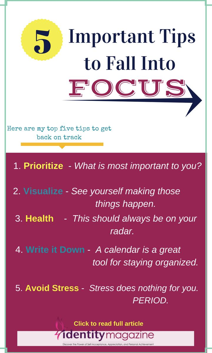 """Are you having a hard time to stay focused? Here are top five tips to get back on track. Author Lauren Delaney shares her """"5 Tips to Fall Into Focus.""""  #focus #achieve #concentration #women #entrepreneur #howtoorganize #canvaphoto #IdentityMagazine #tips #fallintofocus #setyourgoals #womenempowerment #howtofocus #howtosucceed #getbackintrack #motivation"""