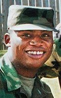 Army Pfc. Charles E. Bush Jr.  Died December 19, 2003 Serving During Operation Iraqi Freedom  43, of Buffalo, N.Y., assigned to 402nd Civil Affairs Battalion, 354th Civil Affairs Brigade, 352nd Civil Affairs Command, Army Reserve, based in Riverdale Park, Md.; killed while riding in a convoy Dec. 19 when his vehicle was hit by an improvised explosive device in Balad, Iraq.