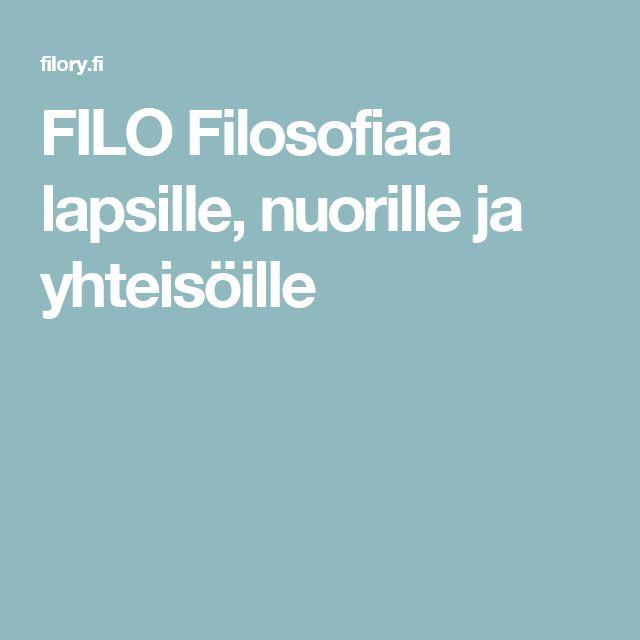 FILO Filosofiaa lapsille, nuorille ja yhteisöille