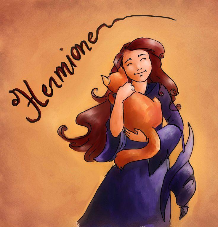 Hermione and Crookshanks by Ederoi on DeviantArt