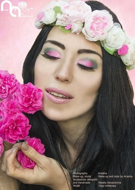 """Wedding headband """"Cherry blossoms"""" designed and handmade by Natalia Alexandrova. www.fb.com/... Photography: Ariadna"""