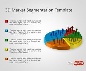 Free 3D Market Segmentation PowerPoint Template is a presentation template with a nice 3D Pie Chart that you can use to prepare presentations for market segmentation