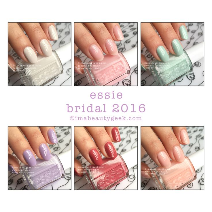 essie bridal 2016 collection swatches review at imabeautygeekcom