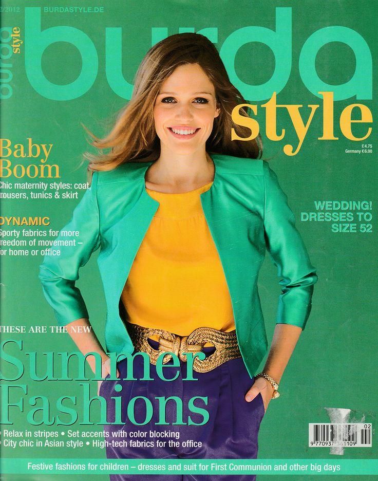 Burda Style Magazine February 2012 Issue in English / Factory Folded Uncut Patterns by EmeraldSewingChest on Etsy