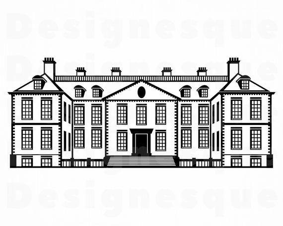 English Manor House Svg Mansion Svg House Svg Home Svg Etsy In 2021 English Manor Houses Manor English Manor