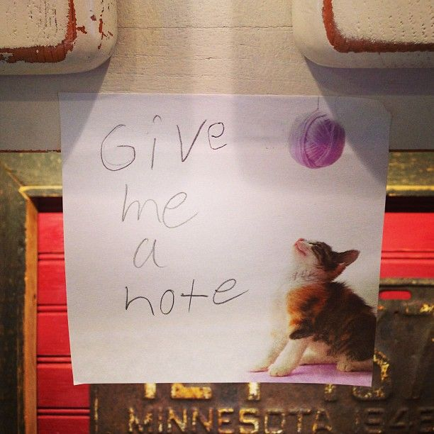 how it started....Post it note daily lunchbox notes from Dad to Kendall Photo by vickeyweiss
