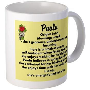 Paula Name Design Mugs
