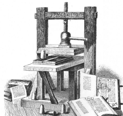 johann gutenberg and the printing press essay Fust forced gutenberg into bankruptcy, acquired the entire print shop - including the printing press - in the court settlement, and ousted gutenberg into the streets in november 1455, johann fust sued gutenberg for unpaid loans plus interest.