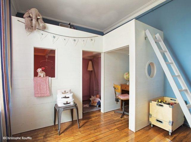 Les 100 meilleures images propos de s parer sans cloisonner sur pinterest - Lit gain de place enfant ...