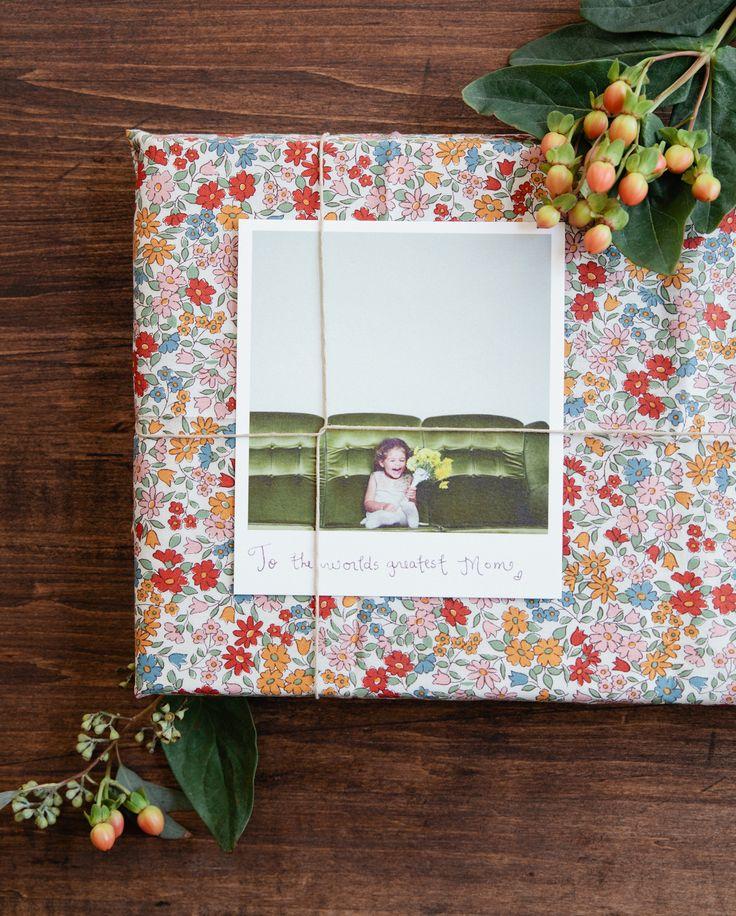 gift wrap + polaroid
