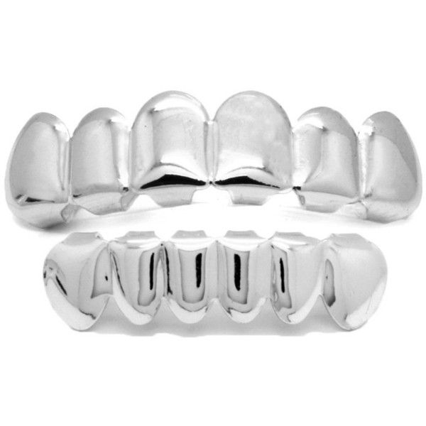 Men's NewAgeBling Top Bottom Grill Set Premium Plated Custom Grillz... ($8.15) ❤ liked on Polyvore featuring men's fashion, men's accessories, men's hats, jewelry & watches, silver, mens caps, mens caps and hats and mens hats