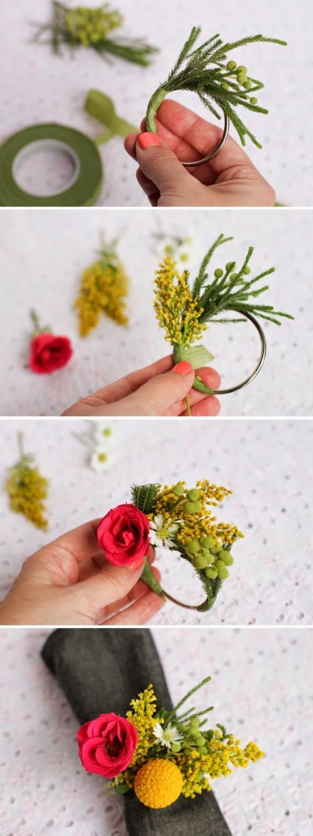 Fresh Floral Napkin Rings | Garden Party | Decorations