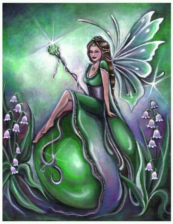 Birthstone Fairy May Emerald