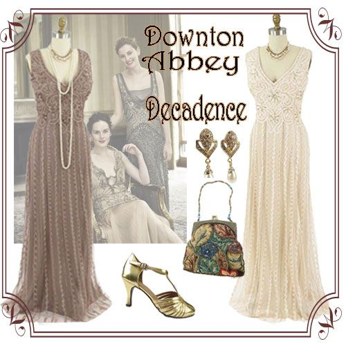 Downton Abbey Vintage Tea Length Dresses