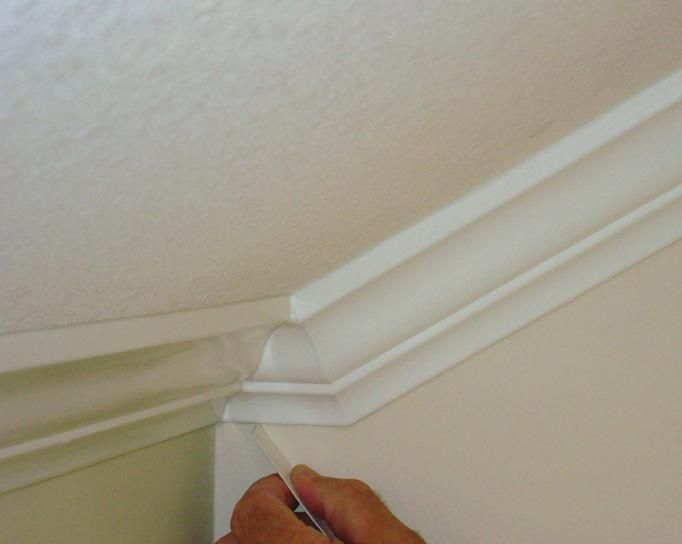How to install crown molding on vaulted ceilings | DIY ...