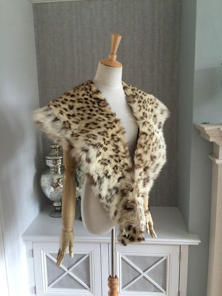 Vintage Cites Exempt 1930 Real Snow Leopard Ocelot Wild