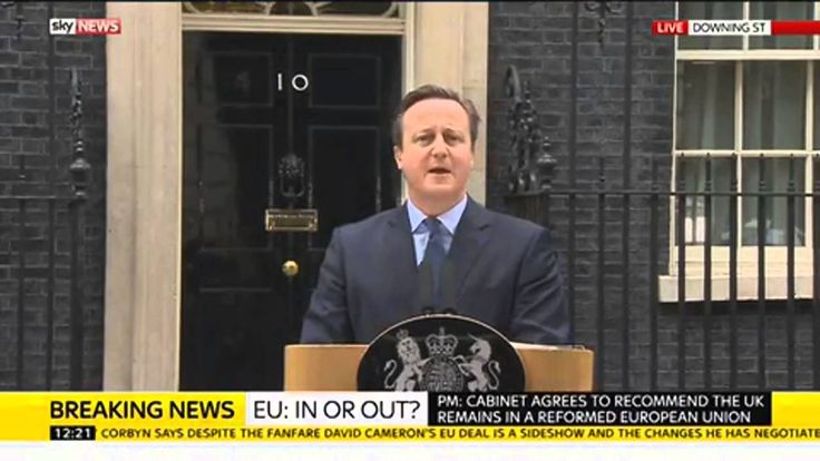 Prime Minister Announces EU Referendum Date