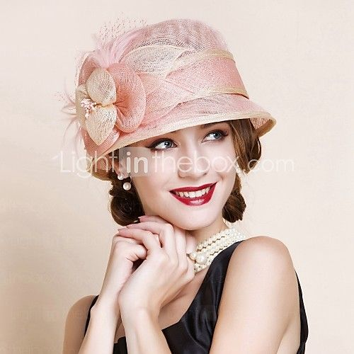 Women's Flax Headpiece - Wedding/Special Occasion Hats 1 Piece - USD $33.99