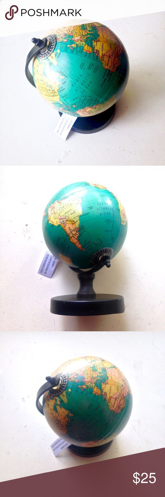 NWT Mini World Globe Map Anthropologie Brand new mini globe with tag. #globe #geography #earth #map #home #homedecor #cute #depop #depopfamous #brandnew #newwithtags #new Urban Outfitters Other