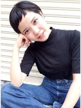 H hair design【エイチ ヘアーデザイン】ブラック×ショートバング