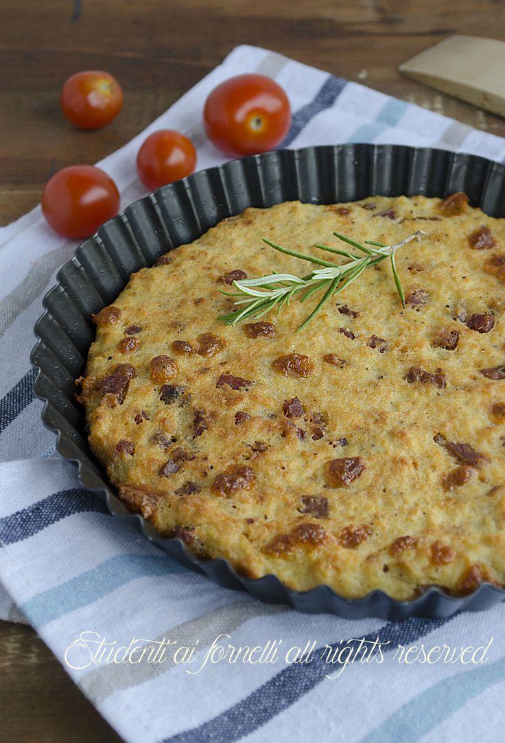 focaccia di pane patate e prosciutto con mozzarella ricetta secondo gustoso