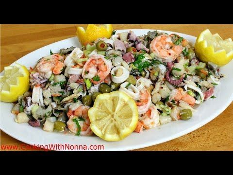 Seven Fishes Seafood Salad - Rossella Rago - Cooking with Nonna - YouTube