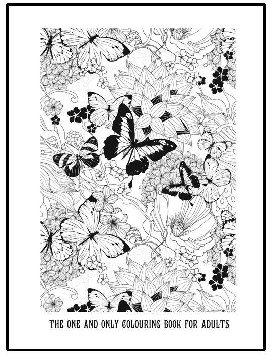 free printable grown up colouring page with butterflies and flowers beautiful detailed colouring page printable coloring pages colouring adult detailed