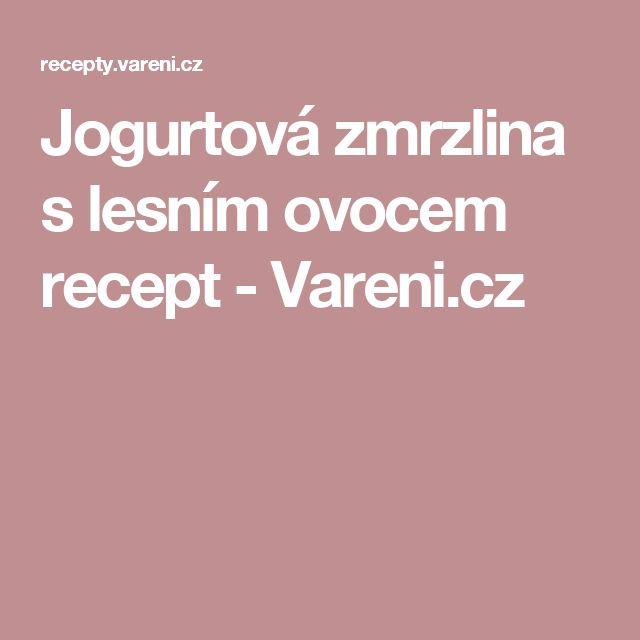Jogurtová zmrzlina s lesním ovocem recept - Vareni.cz