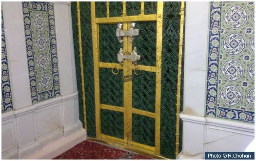 House of Fatima (may Allah be pleased with her) This door, on the eastern side…
