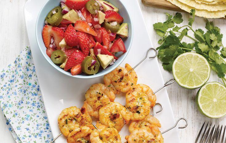 Spiced prawn tacos with Jalapeno salsa