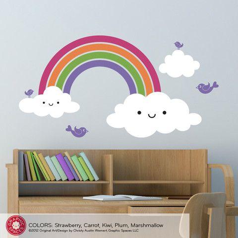 Happy Rainbow Wall Decal