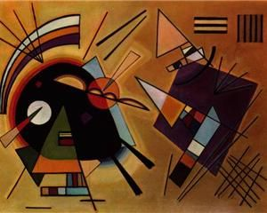 Black and Violet - Wassily Kandinsky: Abstract, Art, Violets, Artist, Painting, 1923, Black, Wassily Kandinsky