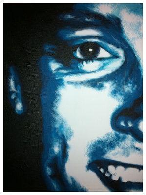 'Darren' in blue