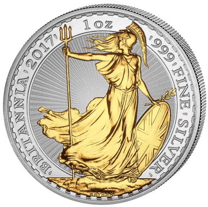 Groot-Brittannië - 2 pond - Britannia 2017 - 999 zilver met 24-karaats gouden plating  Groot-Brittannië - Britannia 2017-1 oz van 999 zilver met exquise 999 gedeeltelijke goudlaagEditie van slechts 5000 munten. De munt is in topconditie.Materiaal: 999 fijn zilverGewicht: 1 oz - 31.1 gram met 24 karaat goudmet gedeeltelijke 999 goudlaagNominale waarde: 2 pondGeregistreerde scheepvaart.Veel meer van onze veilingen kan worden gevonden hier - voel je vrij om te verzamelen:http://ift.tt/2p21lZ8…