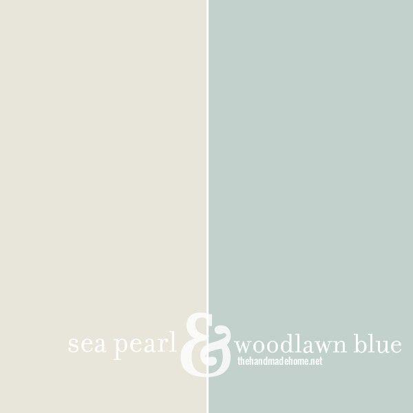 seapearl+woodlawnbluw benjamin moore