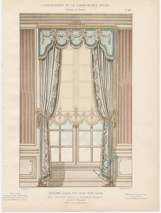fenetre louis xvi pour petit salon miniatures and dollhouses pinterest window curtain. Black Bedroom Furniture Sets. Home Design Ideas