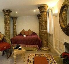 Bedroom Egyptian Interior Designs For Homes : Egyptian .