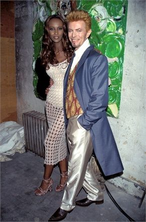David Bowie and Iman - Vogue.it