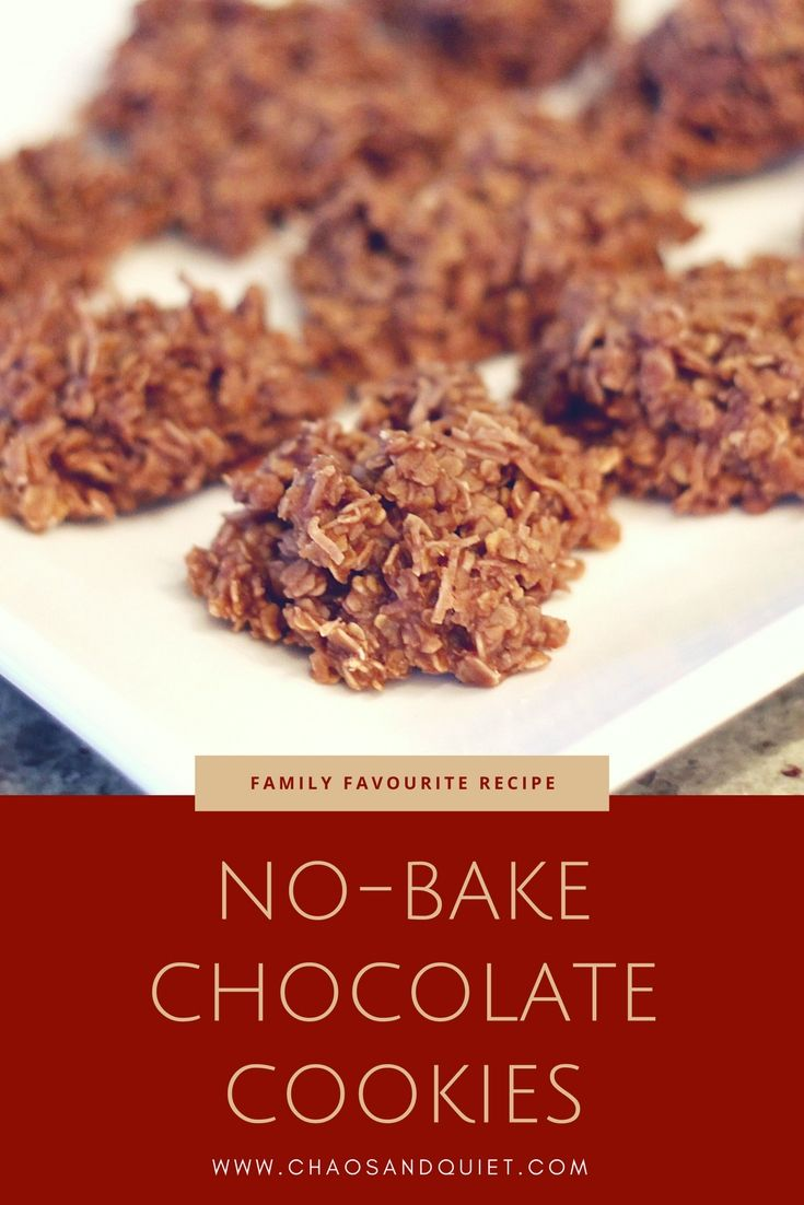 Easy, fast and delicious no-bake chocolate cookies