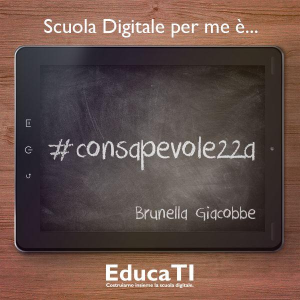 Brunella Giacobbe ci ha detto la sua sulla #scuola #digitale!