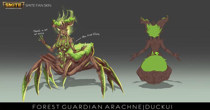 smite_fan_skin__forest_guardian_arachne_by_duckui