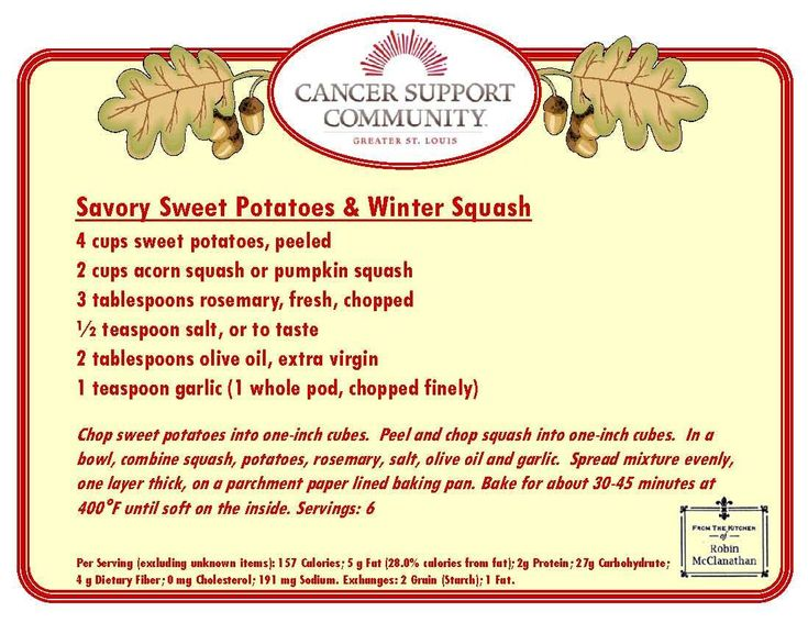 savory sweet potatos & winter squash