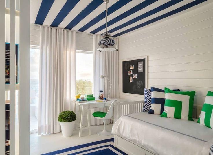 Esse quarto moderno faz parte de um projeto de casa de praia maravilhoso! Confira - por Prego Sem Estopa by Ana Cordeiro